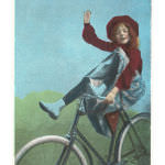 CY-00010-C~Girl-Trick-Riding-on-Bicycle-Posters