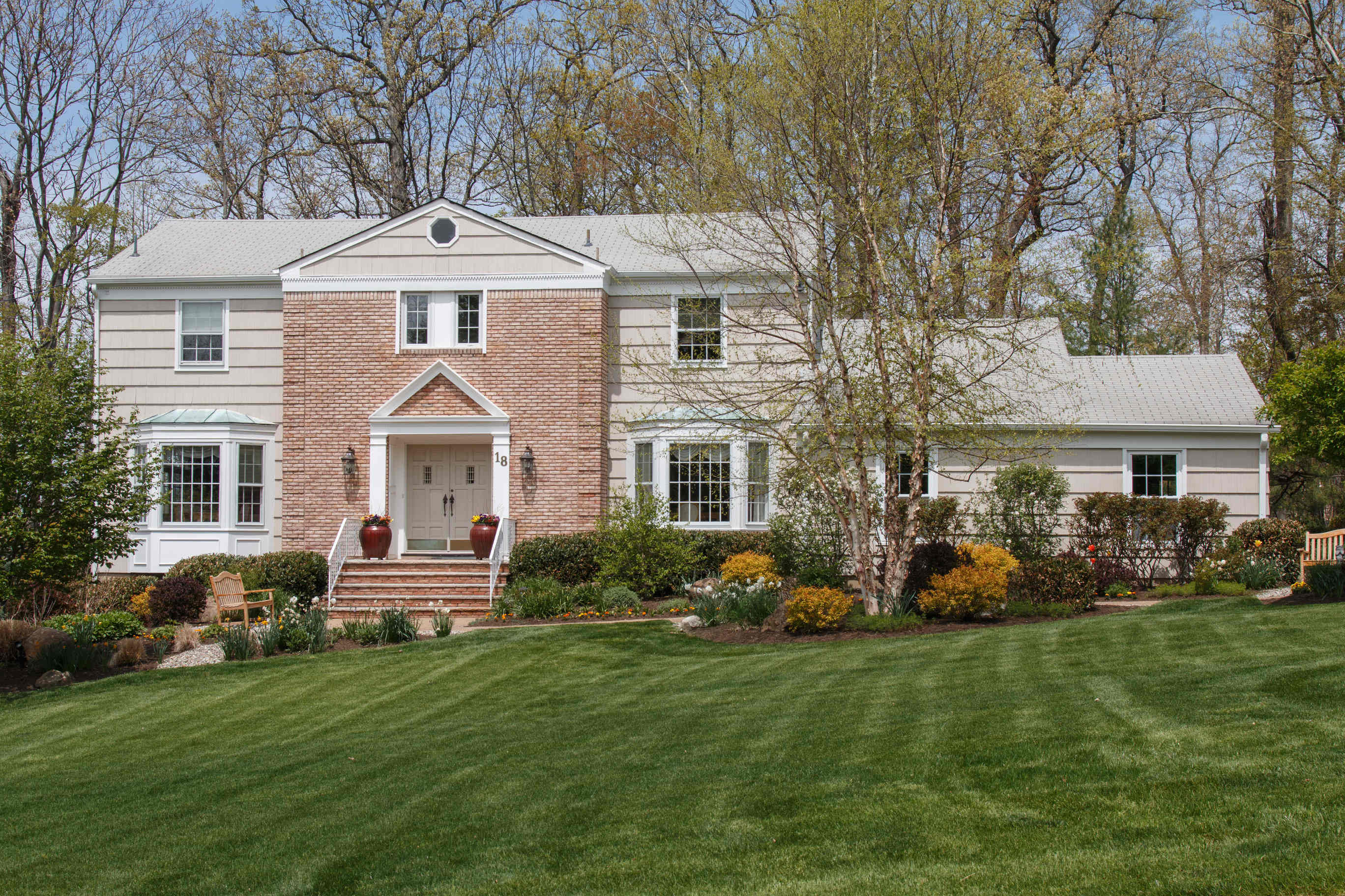 Stunning Colonial Set On .92 Private Acres In The Chestnut Hill Section Of  Livingston